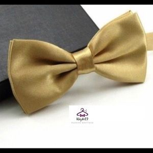 🌺2 Men's Champagne Bow Ties